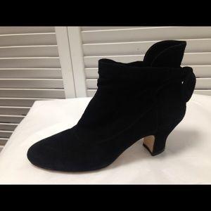 Boutique 9 Black Soft Suede Booties Sz 6 M